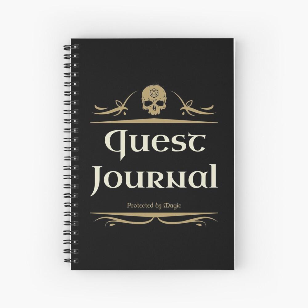Quest Journal Game Master Tabletop RPG Addict Spiralblock