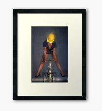 Hard Hat Framed Print