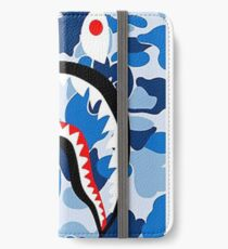 Blue Bape Shark Cases iPhone Wallet/Case/Skin