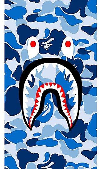 Blue Bape Shark Cases By LisaNgo