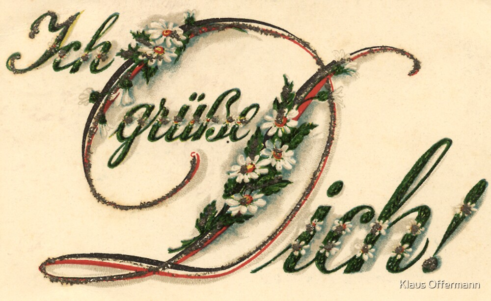Historical greeting card  by Klaus Offermann