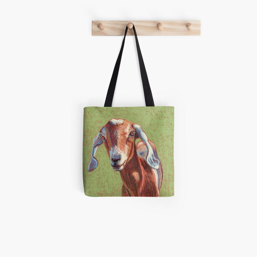 Nubian Ziege mit langen Ohren Tote Bag