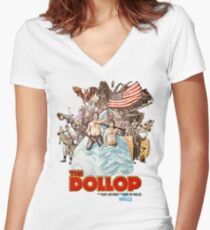 The Dollop 2014 - (T-Shirt) Women's Fitted V-Neck T-Shirt
