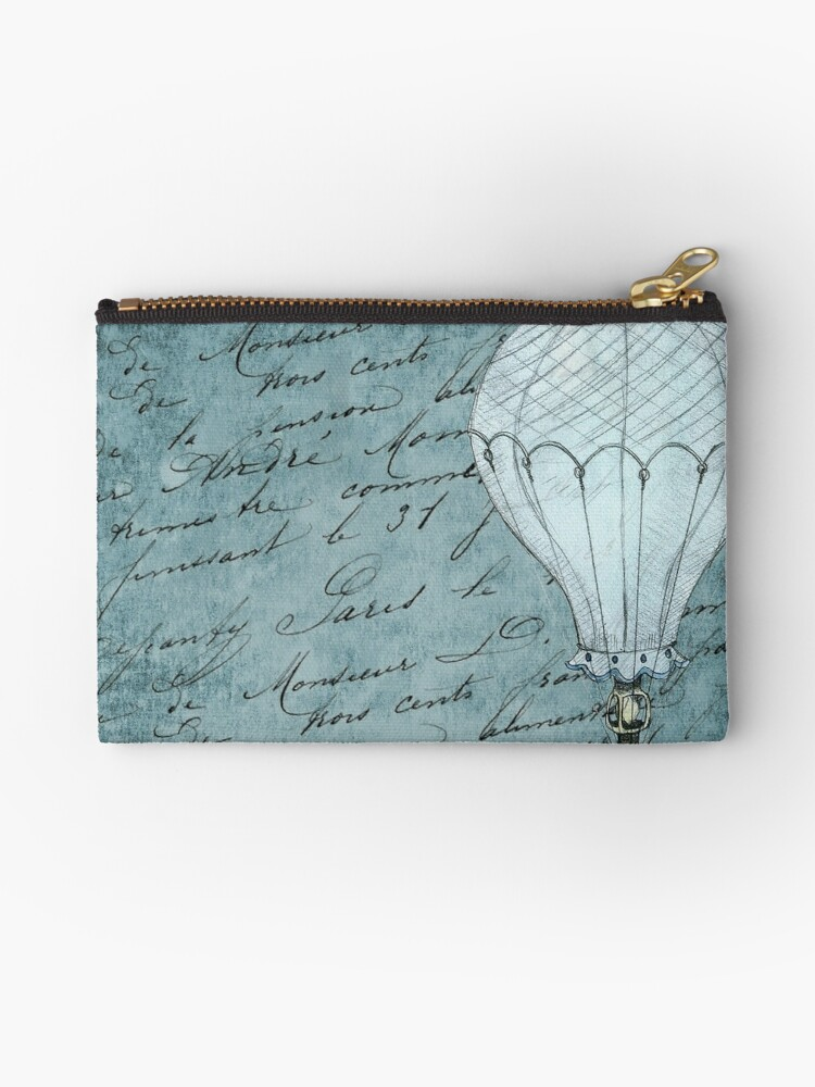 Retro Hot Air Balloon Design with Cursive Writing by critterville
