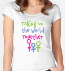 Taking on the World - Women's March Alliance Women's Fitted Scoop T-Shirt
