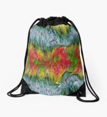Fury abstract. Drawstring Bag