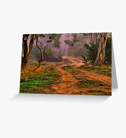 """""""Meandering into the Mist"""" Greeting Card"""