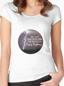 crying lightning Women's Fitted Scoop T-Shirt