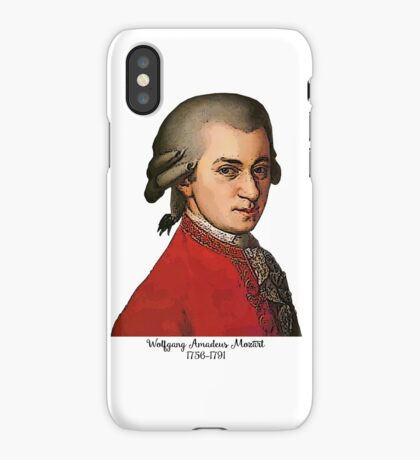Wolfgang Amadeus Mozart Grunged iPhone Case