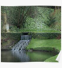 Garden in Spring at Watermouth Castle Coombe Martin North Devon UK Poster