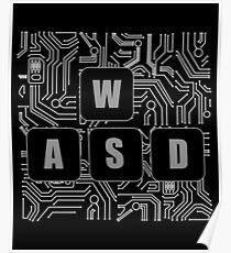 WASD Gamer Graphic Poster