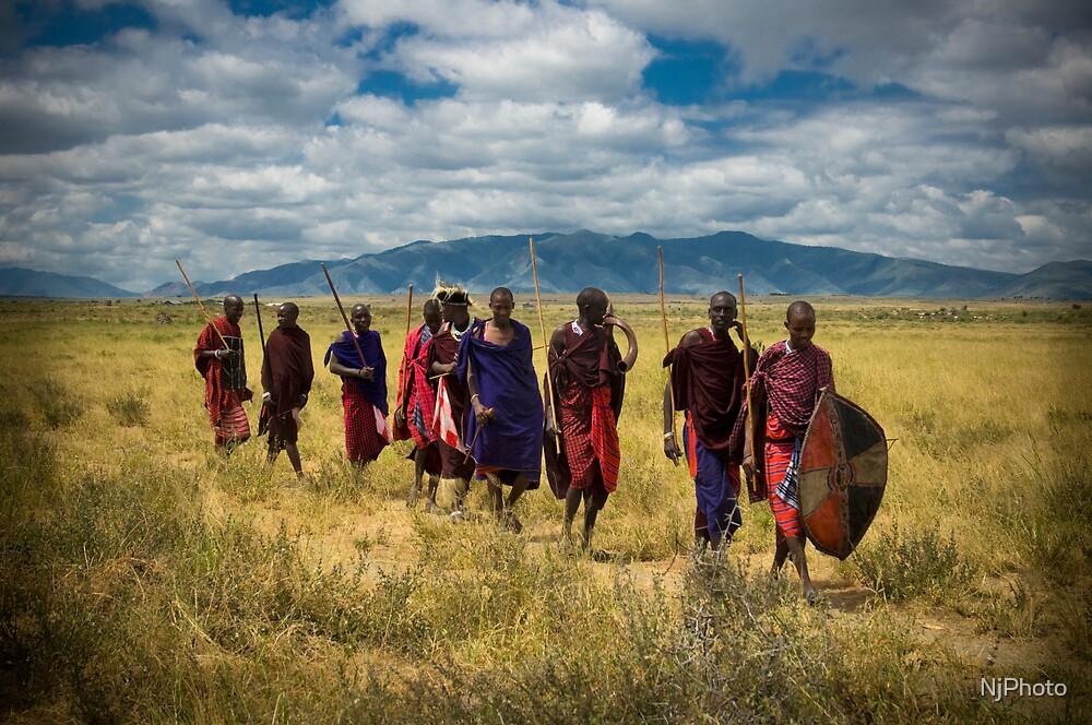 Masai Tribesmen by Nathan Jermyn