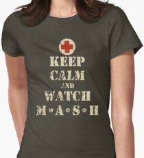 Keep Calm and Watch M*A*S*H Women's Fitted T-Shirt