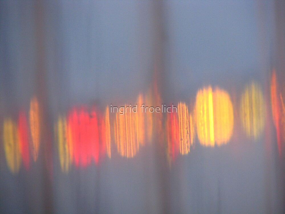 patio lights through the walls by ingrid froelich