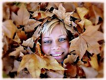 Woman and Autumn..... by Eugenio