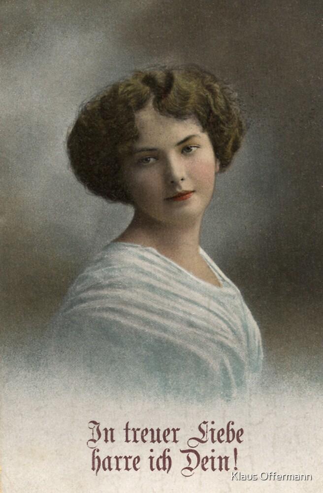 Portrait of a German lady by Klaus Offermann