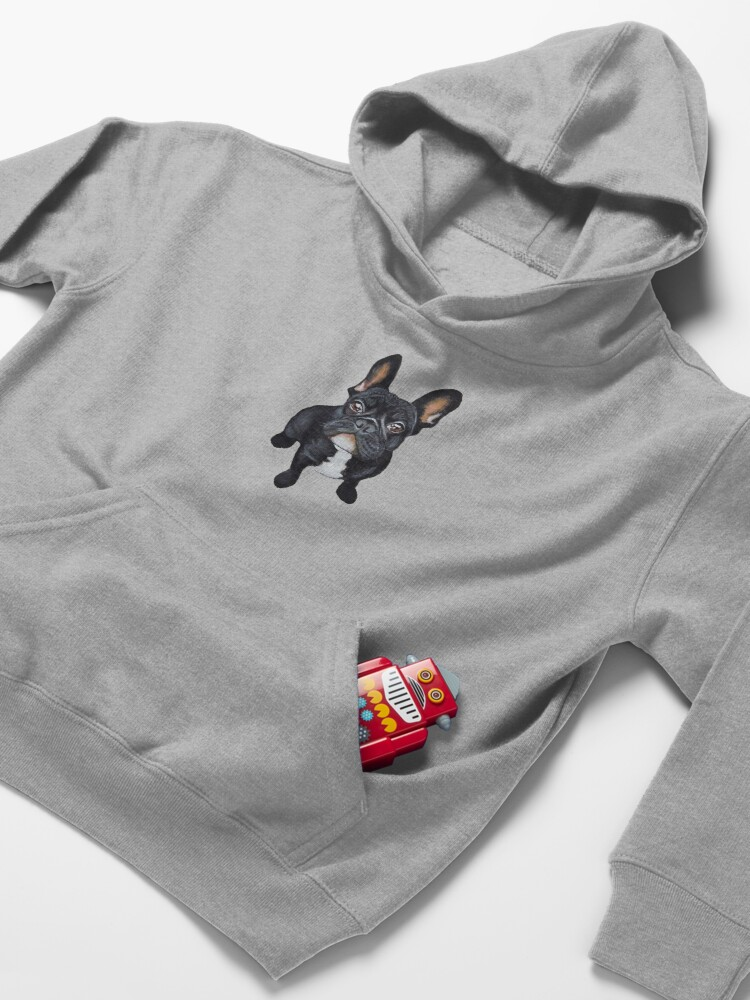 Alternate view of French Bulldog Kids Pullover Hoodie