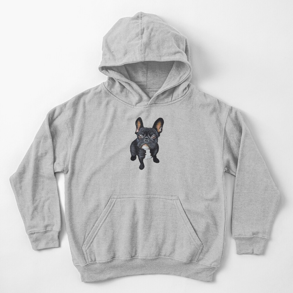 French Bulldog Kids Pullover Hoodie