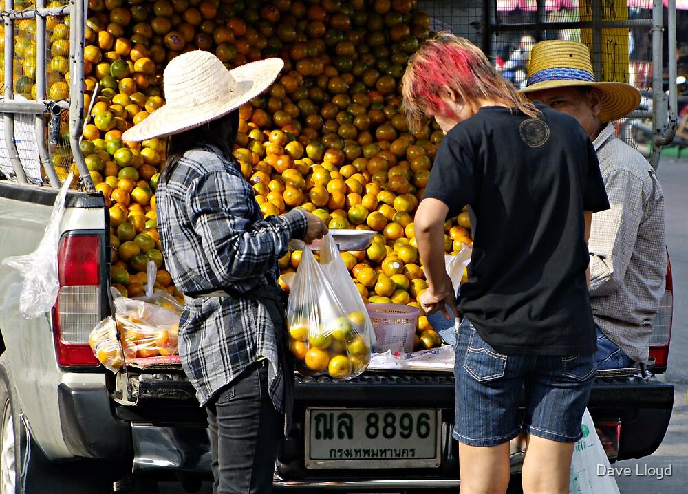 Orange Truck by Dave Lloyd