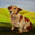 """""""Sparkey in the garden"""" by Bridget Beckley"""