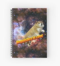 linguistics is cool -- doggo aesthetic Spiral Notebook