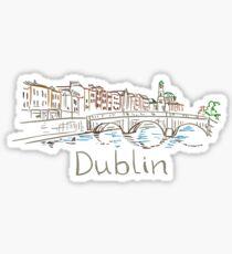 Dublin Panorama Sticker