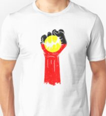 Aboriginal Flag Fist Unisex T-Shirt