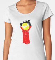 Aboriginal Flag Fist Women's Premium T-Shirt