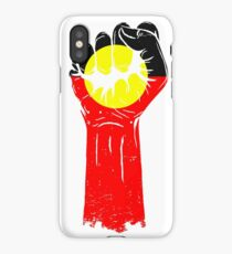 Aboriginal Flag Fist iPhone Case/Skin