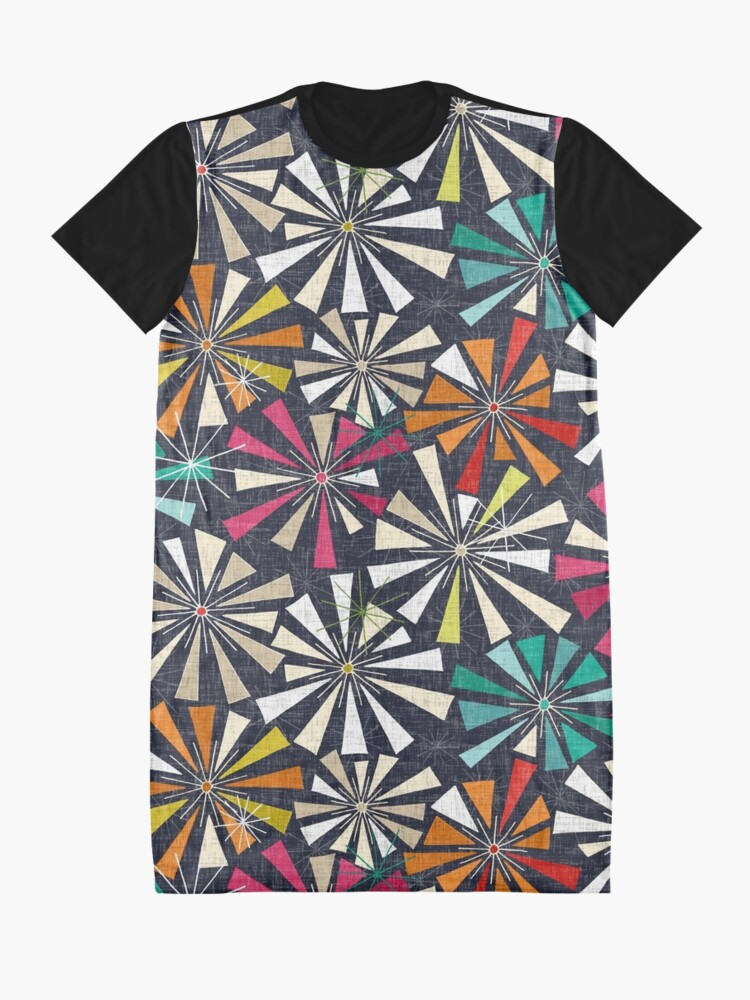 Alternate view of fireworks cobalt Graphic T-Shirt Dress