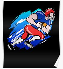 American Football Player T shirt Gift For Football Lovera Poster