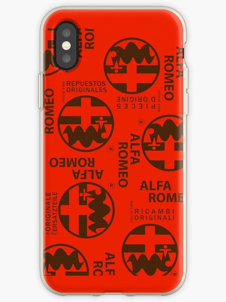 half off ec923 b5d2b 'Ricambi Originali Alfa Romeo' iPhone Case by evanbottcher