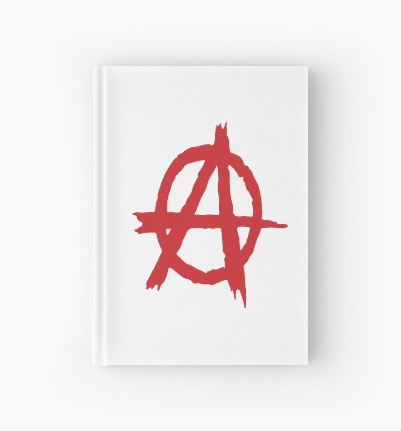 Anarchy Symbol Anarchism Symbol Rejects Hierarchy Hardcover