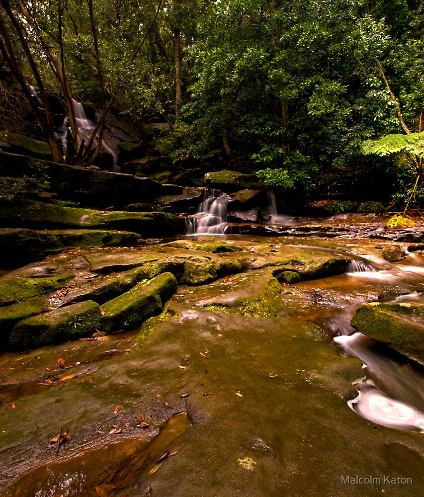Inviting - Somersby Falls, NSW by Malcolm Katon