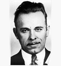 Painting of John Dillinger Mug Shot Mugshot Poster