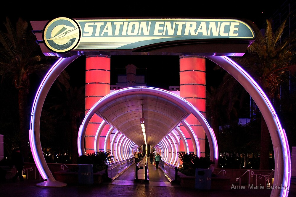 Monorail Station in Las Vegas by Anne-Marie Bokslag