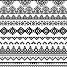 Black and White Tribal Design by banginT