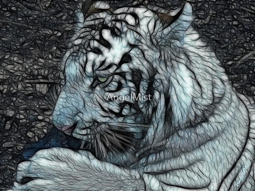 White Tiger Cub by AngelMist