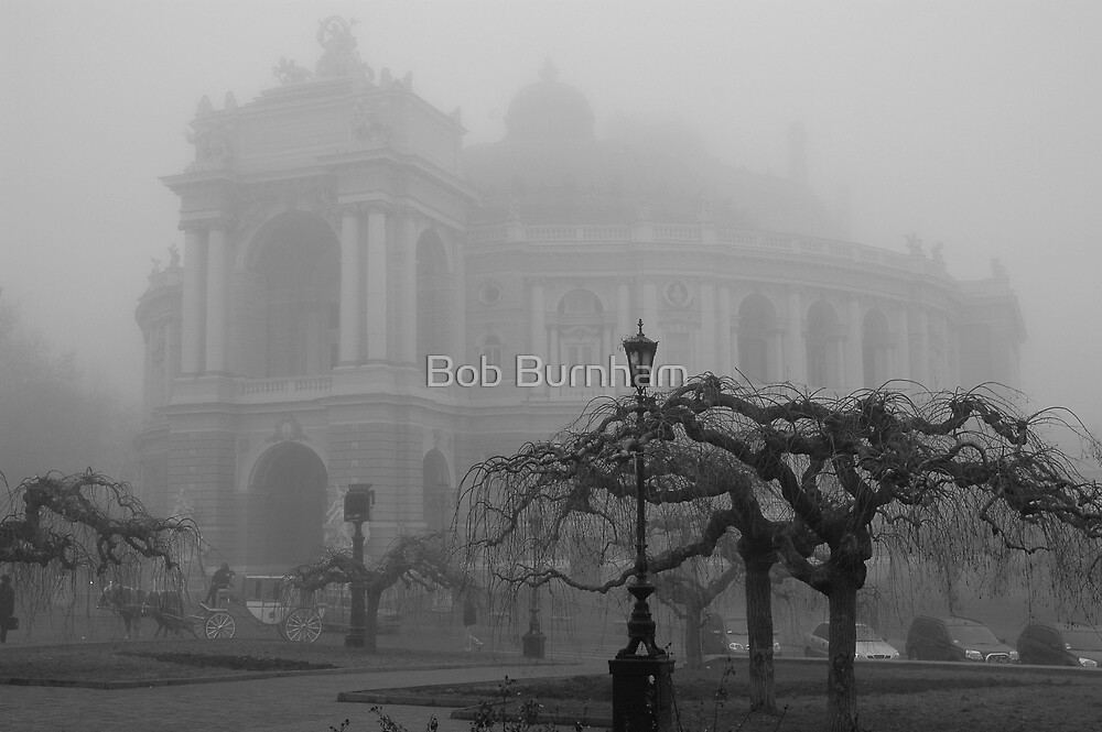 Opera House in Fog by Bob Burnham