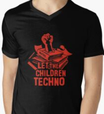 LET THE CHILDREN TECHNO Men's V-Neck T-Shirt