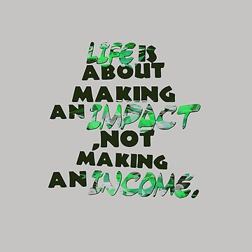 Life is about making an impact Sticker by Abko90