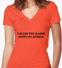 Africa - Toto Women's Fitted V-Neck T-Shirt