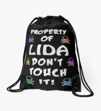 Property of Lida Drawstring Bag