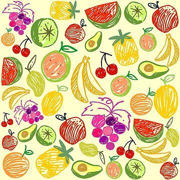 Cute Fruits Pattern by cutecutedesigns