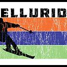 Skiing Telluride Colorado Retro Ski Snowboarding by MyHandmadeSigns