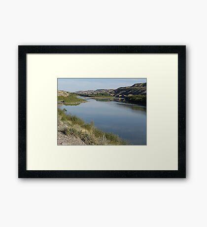 Red Deer River Valley Framed Print