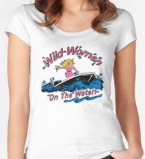 Wild Women on the Water Women's Fitted Scoop T-Shirt