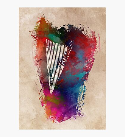 Harp #harp #art #music Photographic Print