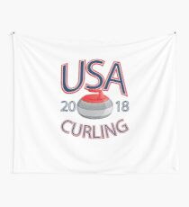 USA Curling T-Shirt 2018 Winter Sports Apparel  Wall Tapestry