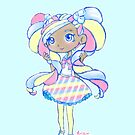 Cute Kawaii Marsha Mello Shopkins Shoppies Doll Art by BonBonBunny